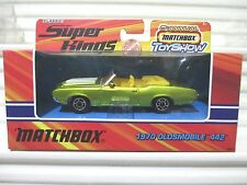 Matchbox 2005 HERSHEY TOY SHOW 1970 Oldsmobile 442 Yellow Seats 1/43 Nu in NuBox