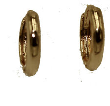 Round Small 18k Gold Plated Huggies Small Huggie Hoops 18k Gold Plated -
