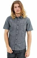Hurley Mens One And Only 3.0 Short Sleeve Button Front Shirt (Small & Medium)