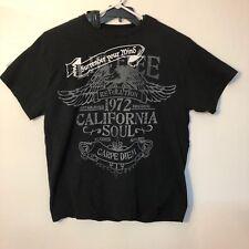 """Carbon Men's T Shirt """"Surrender Your Mind"""" California Soul Sz XL Graphics Black"""