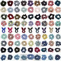 Fashion Summer Floral Hair Scrunchies Bun Ring Elastic Sports Dance Scrunchie