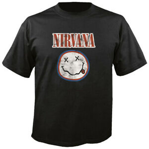 NIRVANA - Vintage Smilie - Logo - T-Shirt