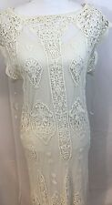 Megiilia Women's Dress Size Small All Lace Off White