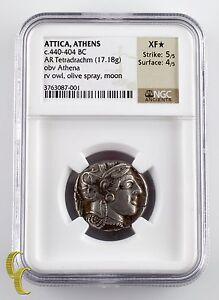 Attica, Athens c. 440 - 404 BC AR Tetradrachm XF⋆ Str: 5/5 Sur: 4/5 Athena/Owl
