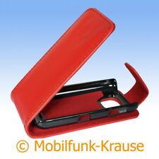 Flip Case Etui Handytasche Tasche Hülle f. Nokia Asha 311 (Rot)