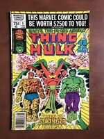 Marvel Two-In-One Annual #5 (1980) 5.0 VG Key Issue Bronze Age Hulk Thing