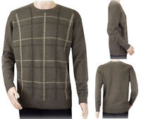 New Ex Edinburgh Woollen Mill Men's Pure Wool Jumper Crew Neck Sweater Size S-XL