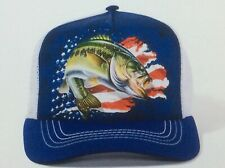 The mountain adult trucker hat Patriotic bass