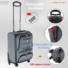 55cm 40l Luggage Trolley Travel Bag 4 Wheel Suitcase Cabin Carry on