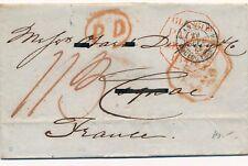 Lettre Glascow ANGL Boulogne Bordeaux Cover Brief Scotland Great Britain