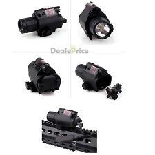 Tactical Red Laser Sight LED Flash Light Combo-rifle Shotgun 20mm Rail di