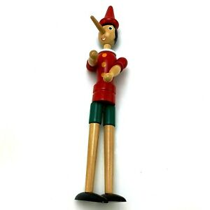 """Vintage Pinocchio Jointed Wooden Doll 