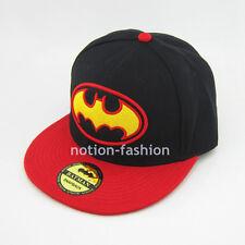 New Red batman hiphop Snapback Adjustable Black baseball cap Adult flat hat