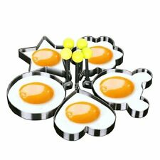 5 Fried Egg Non Stick Stainless Steel Pancake Ring Mold Cooking Kitchen Tools