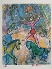 """Marc Chagall Original 1984 Hand Signed & Numbered Print """"The Circus""""   COA"""