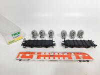 CO787-0,5# Trix H0/DC 24023 Behältertragwagen-Set DB NEM KK KKK, NEUW+OVP