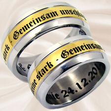 Eheringe Verlobungsringe Freundschaftsringe Hochzeitsringe mit Lasergravur