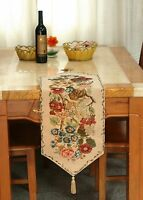 Tache Tapestry Woven Country Rustic Vintage Morning Meadow Floral Table Runners