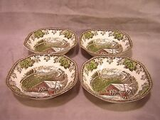 Johnson Brothers FRIENDLY VILLAGE Cereal Bowls ~ 4 pieces in box