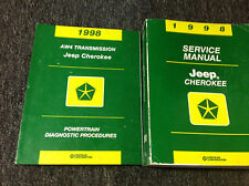 1998 JEEP CHEROKEE Service Shop Repair Manual Set OEM W Powertrain Diagnostic