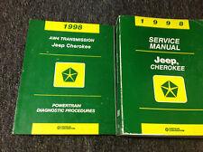 1998 JEEP CHEROKEE Service Shop Repair Manual Set OEM W Powertrain Diagnostic