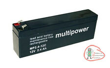 1 x Multipower MP2.4-12C Accu de cycle 12 V / 2,4 Ah