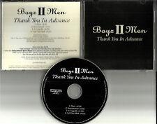 BOYZ II MEN Thank you in advance ACAPELLA & INSTRUMENTAL PROMO CD Single boys