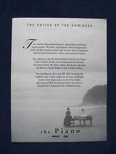 Original 8 1/2 x 11 Program for THE PIANO Holly Hunter, Anna Paquin, H Keitel