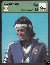 DIANA NYAD Cuba to Florida Swim Swimming 1979 SPORTSCASTER CARD 22-20