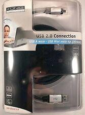 CAVO USB DA MINI MASCHIO 4P HIROSE A USB A  1.8 METRI PC NOTEBOOK HUB FOTOCAMERA