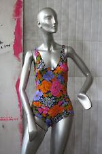 Badeanzug Blumen Schwimmdress 70er TRUE VINTAGE 70s women swimsuit flowers