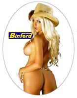 Sexy Tool Box Sticker Busty babe Cowgirl Erica Binford Tool Time Girl Toolbox
