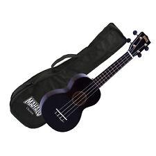 Mahalo Ukulele MR1BK Rainbow Series BLACK Soprano UKE Aquila Strings Gig Bag
