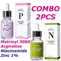 2 PCS Facial Serum Peptide Matrixyl 3000 Argireline + B3 Niacinamide 10% Zinc 1%