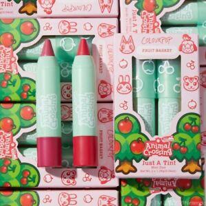 PREORDER Colourpop Animal Crossing New Horizons Fruit Basket Lip Tints Mini Kit