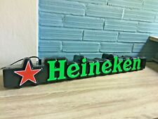 Vintage Heineken Original Beer Sign Light Box Neon Display Bar Pub Store Shop