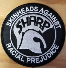 SHARP (Skinheads Against Racial Prejudice) Patch - Iron On - FREE SHIPPING!