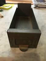 vintage steel  parts bin drawers, steampunk , industrial salvage