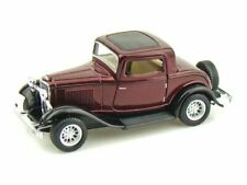 Kinsmart 1:34 Scale 1932 Ford 3 Window Coupe, Multi Color Free Shipping