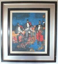 """HST olio su tela pittura di Lacaze Laban """"trio"""" (2)"""
