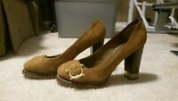 Tory Burch Tan Brown Suede/Leather Pumps - Size 7.5