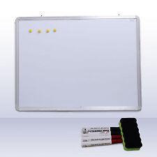 Magnetic Dry Wipe Whiteboard & Eraser Memo White Notice Board Presentation Plain
