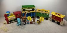Fisher Price Little People Play Family 991 Circus train near Complete w Extras