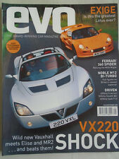 Evo No 23 Sep 2000 Exige, VX220, 360 Spider, Moble M12 Biturbo
