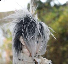 Dollfie BJD SD wig Perücke Fur size 6-7 black/white, selfmade!!!