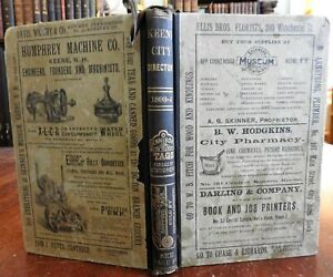 Keene New Hampshire City & Business Directory 1893-4 period adverts w/ map book