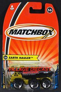 2005 Matchbox #56 Earth Hauler™ (3-Axle Dump Truck) LIME GOLD / INT'L CARD / MOC