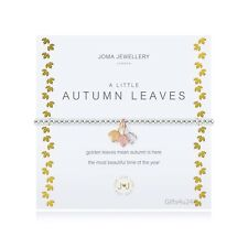Joma Jewellery A Little AUTUMN LEAVES Silver Plated Beaded Bracelet + Gift Bag