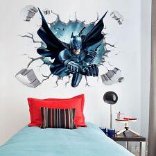 Cartoon Batman Art Vinyl Wall Stickers Decal Baby Boy Kids Nursery Home Decor