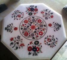 """BEDROOM  COFFEE TABLE MARBLE INLAY ART 20"""" DINING CENTER CORNER MOSAIC WORK"""